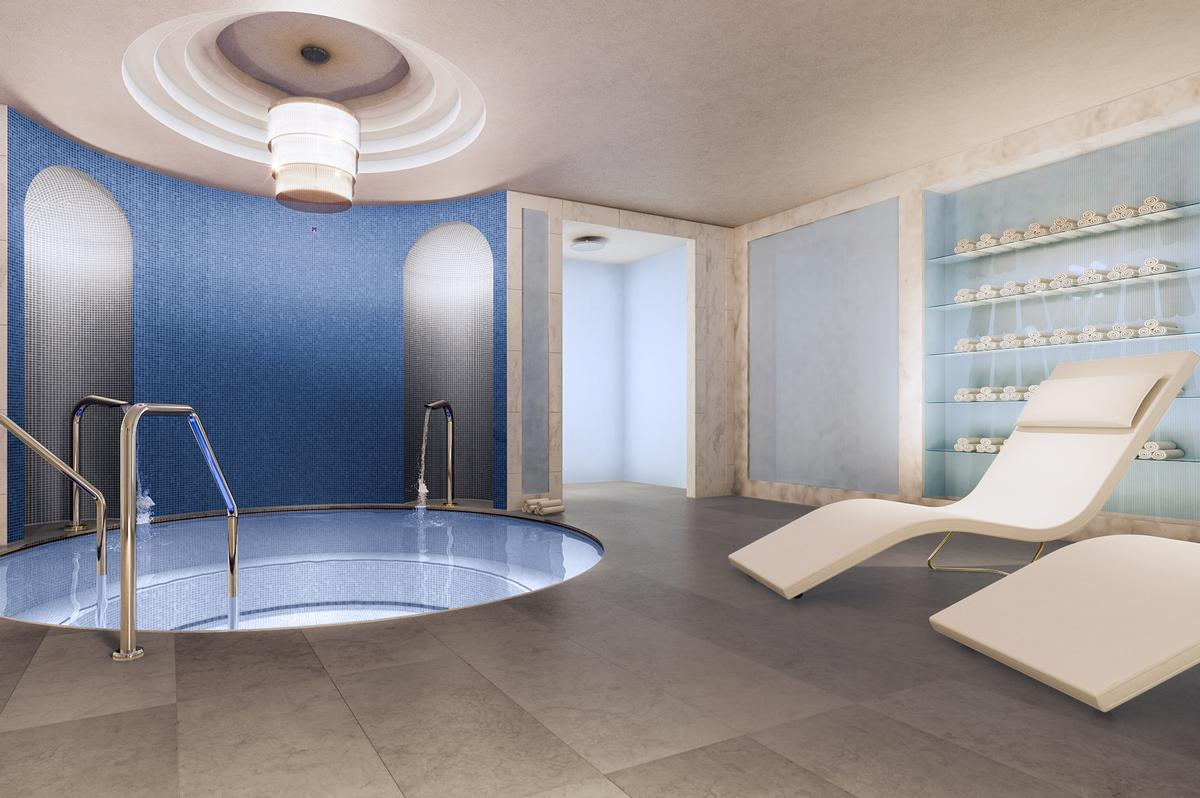 The Spa Includes Male And Female Wet Areas With Aroma Steam Room Roman Hot Tub