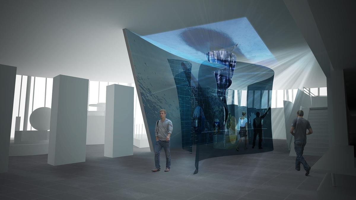 The exhibition invites the visitors in and opens up the area with improved flow