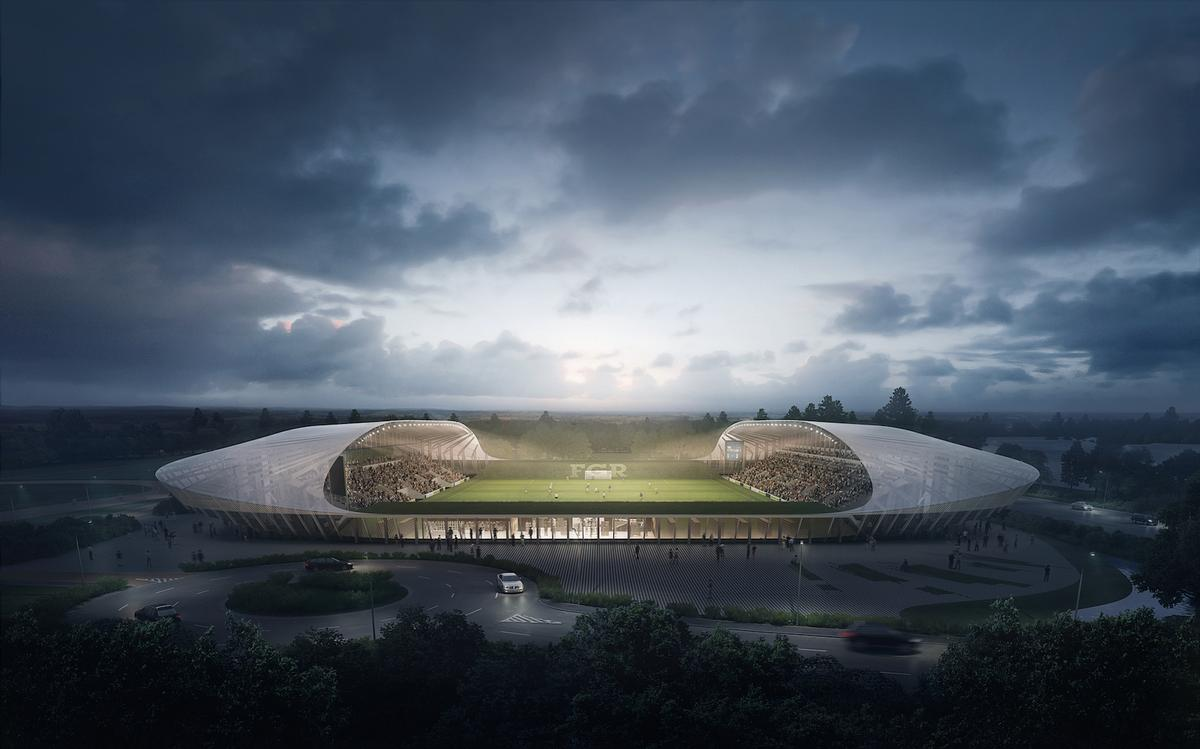 The stadium proposed by Zaha Hadid Architects / Zaha Hadid Architects