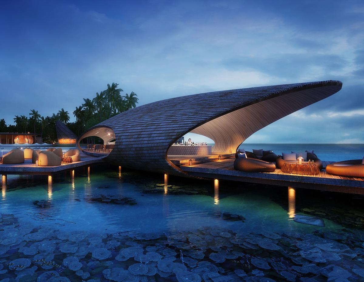 Designed by Singapore-based WOW Architects, the St Regis Maldives Vommuli Resort was short-listed for the World Architecture Festival Awards last year