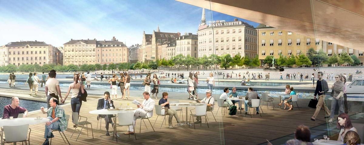 The project, which will create new public realm, is one of the largest urban transformation schemes in Sweden / Foster + Partners