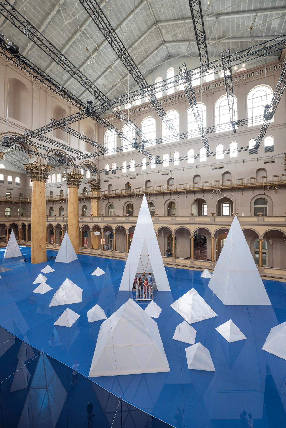 Visitors can climb to the top of the tallest iceberg / Timothy Schenck