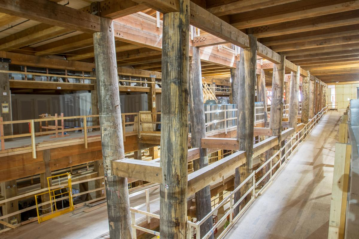 Over three million board feet of timber was used to construct the ark / The Ark Encounter