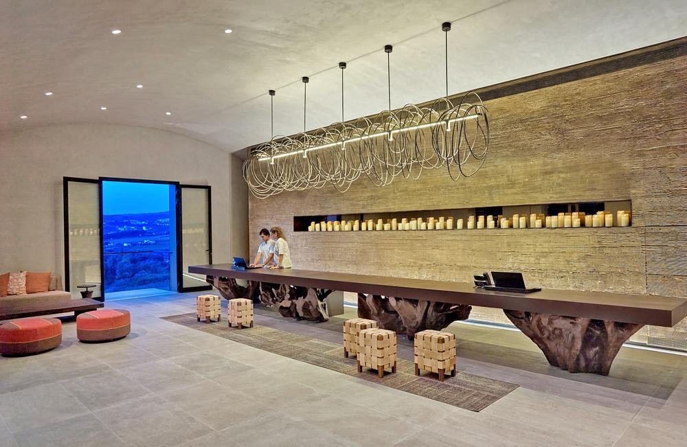 The reception at Six Senses Douro Valley, Portugal