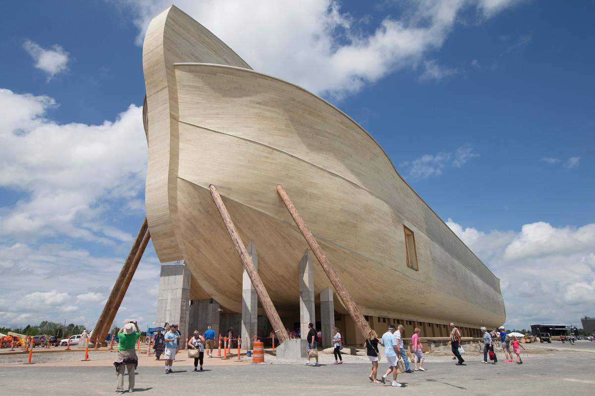 The boat is 510ft (155.5m) long, 85ft (26m) wide and 51ft (15.3m) high, the original dimensions outlined in the Bible / John Minchillo/AP/Press Association Images