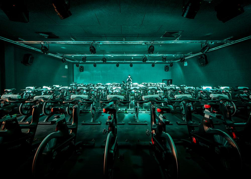 The Ride studio is able to cater for large classes, offering 64 of the latest ICG bikes / All photos: SMD Photography
