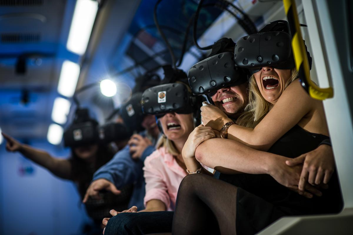 The VR ride is not for the faint-hearted