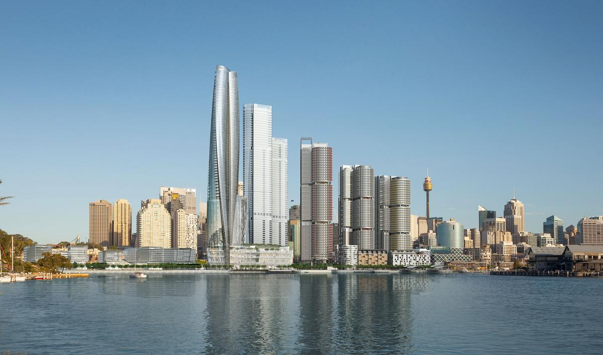 WilkinsonEyre have designed the sculptural tower which will house the hotel and casino / Crown Resorts