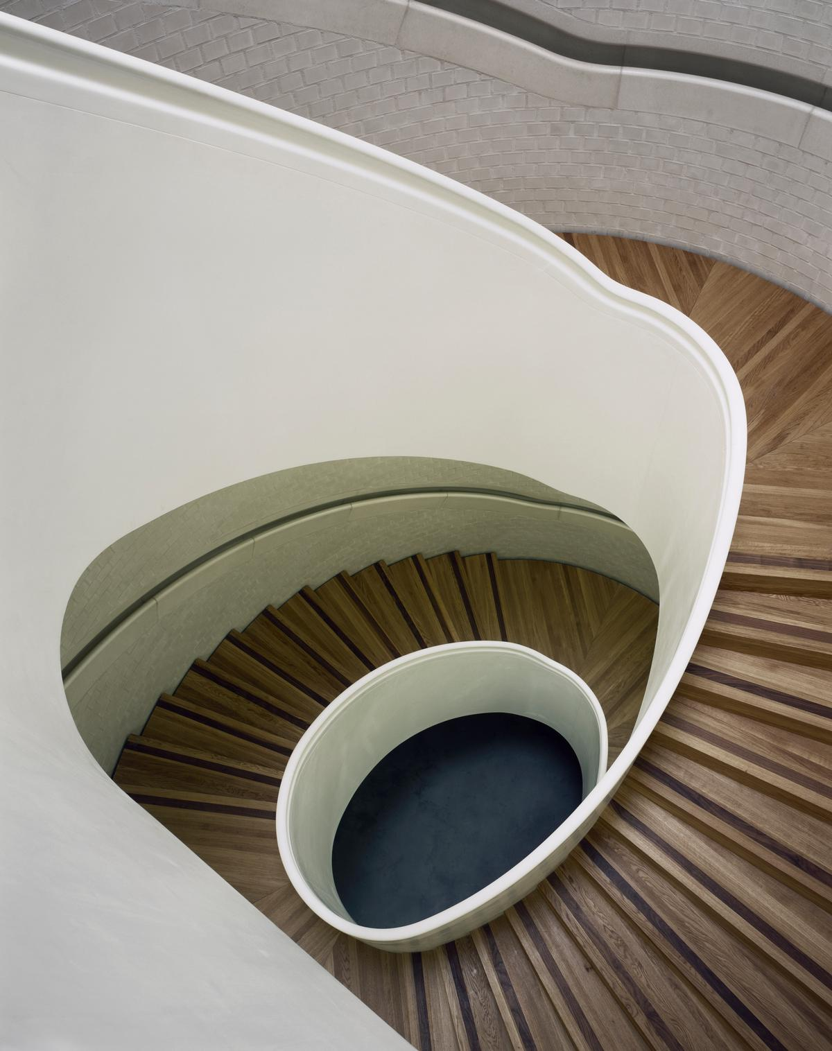 Caruso St John's spiralling staircase is a standout feature / Helene Binet