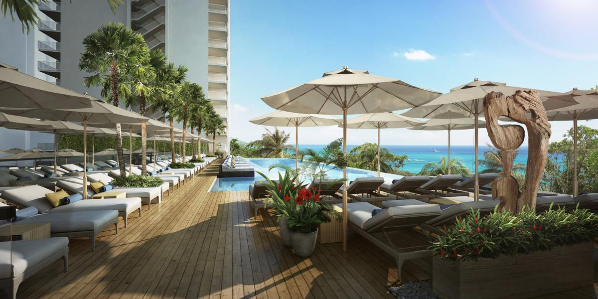 The hotel's new pool deck will feature a saltwater infinity pool and a bar / Rockwell Group