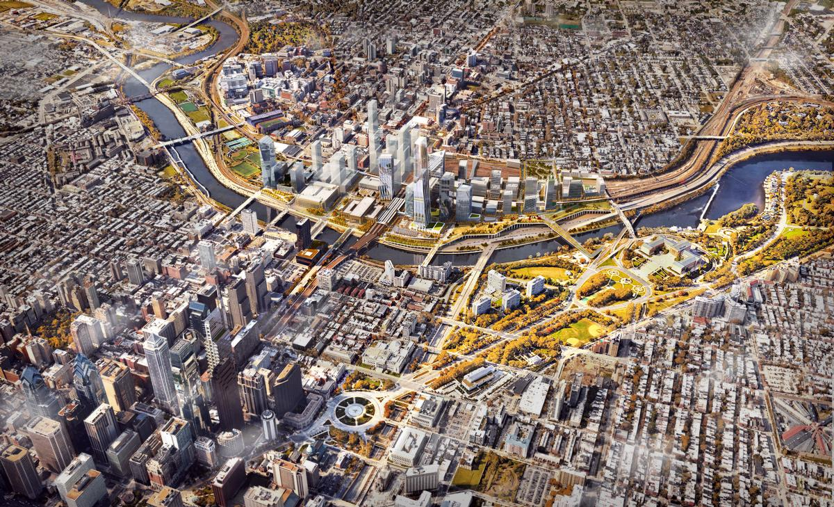 The masterplan has been created in collaboration with professional services firm Parsons Brinckerhoff, landscape architect OLIN, and project consultants HR&A Advisors / SOM