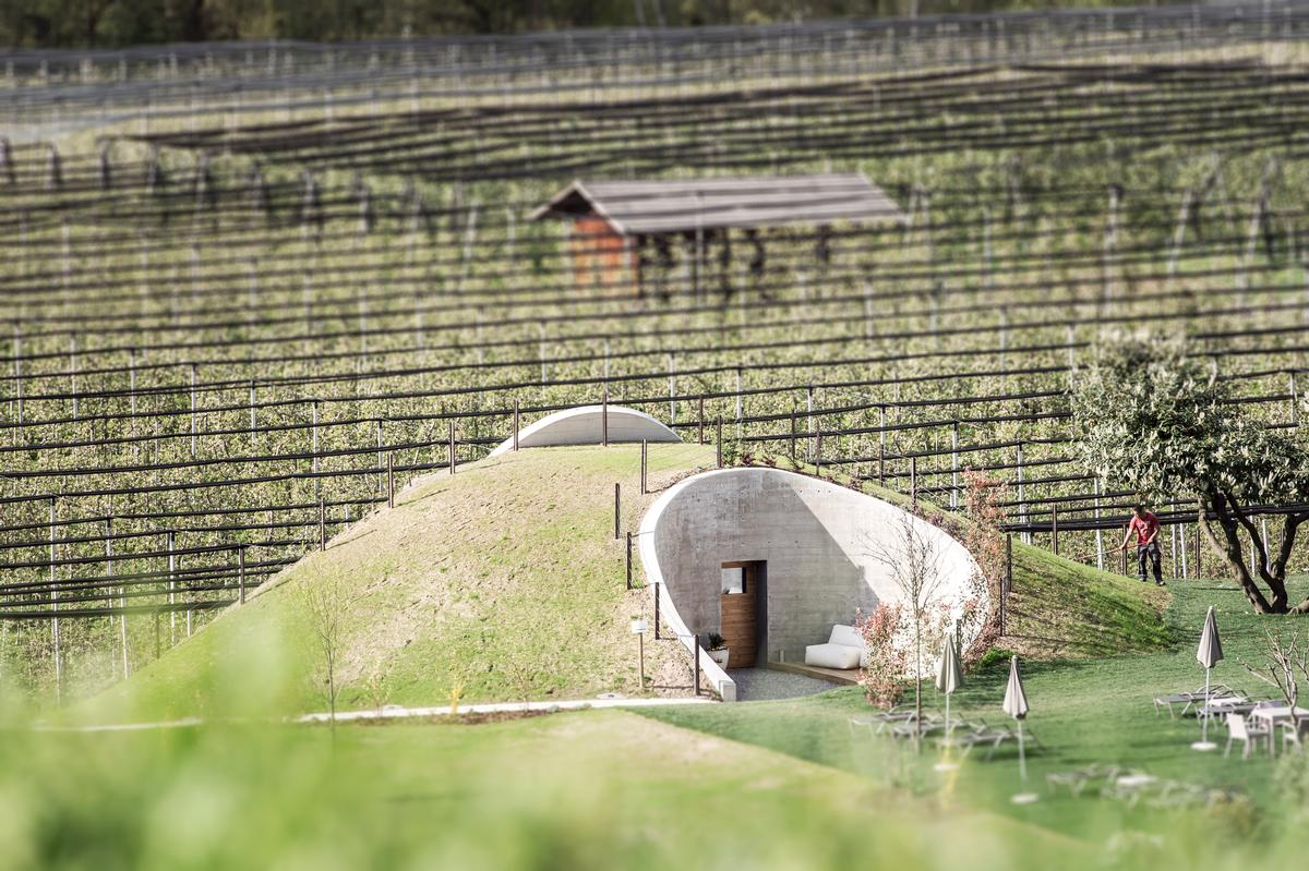 The Applesauna is built into the side of a Hobbit-style hill / NoA*