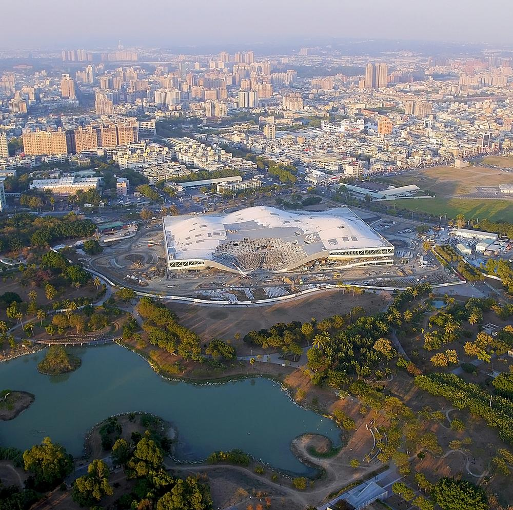 The design of the the National Kaohsiung Center for the Arts in Taiwan was inspired by local banyan trees, which provide shelter and a place to meet