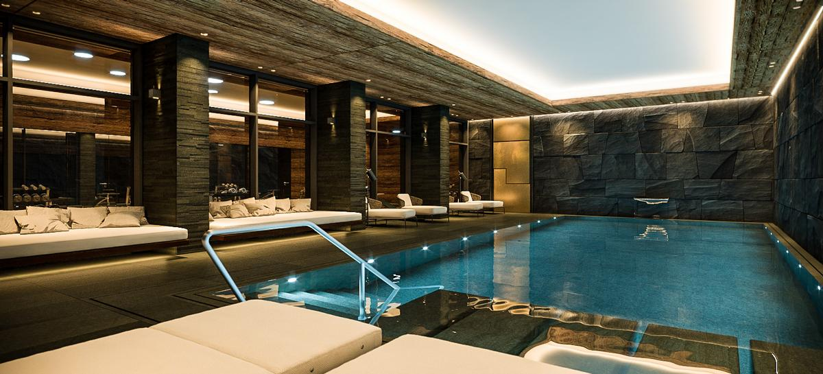 Indoor pool einfamilienhaus  Reinhard Strasser designs luxurious Alpine retreat with hypoxic ...