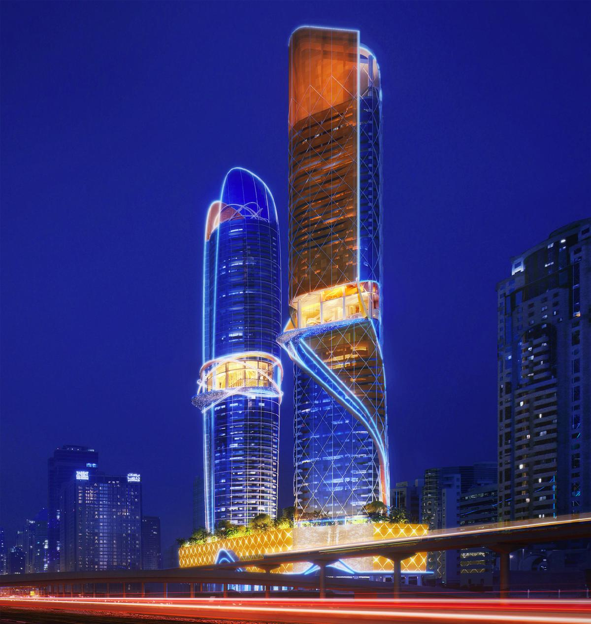 The towers will cost US4550m to build / ZAS Architects