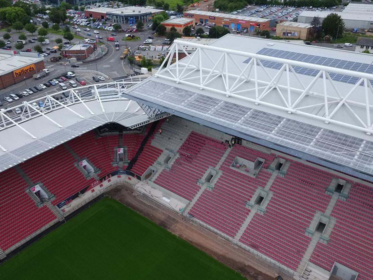 The solar panels are expected to save Bristol City £150,000 over 20 years in energy bills
