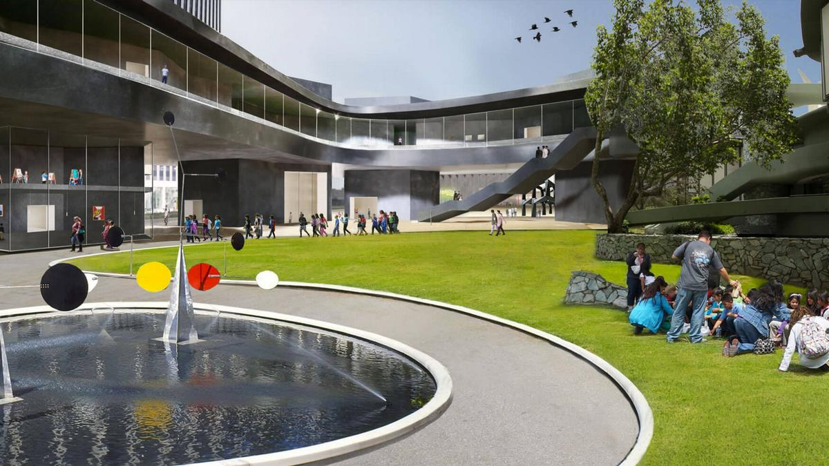 The new buildings will be surrounded by new public open areas / LACMA