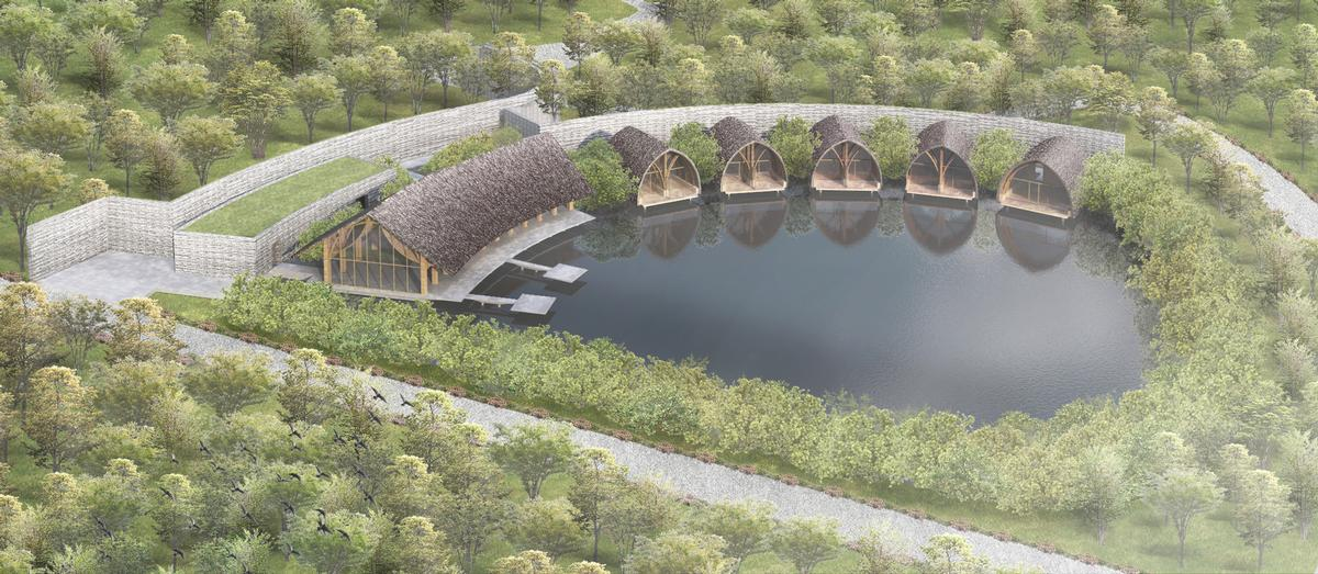 The spa is set around a mangrove reservoir on Phu Quoc island / Vo Trong Nghia Architects