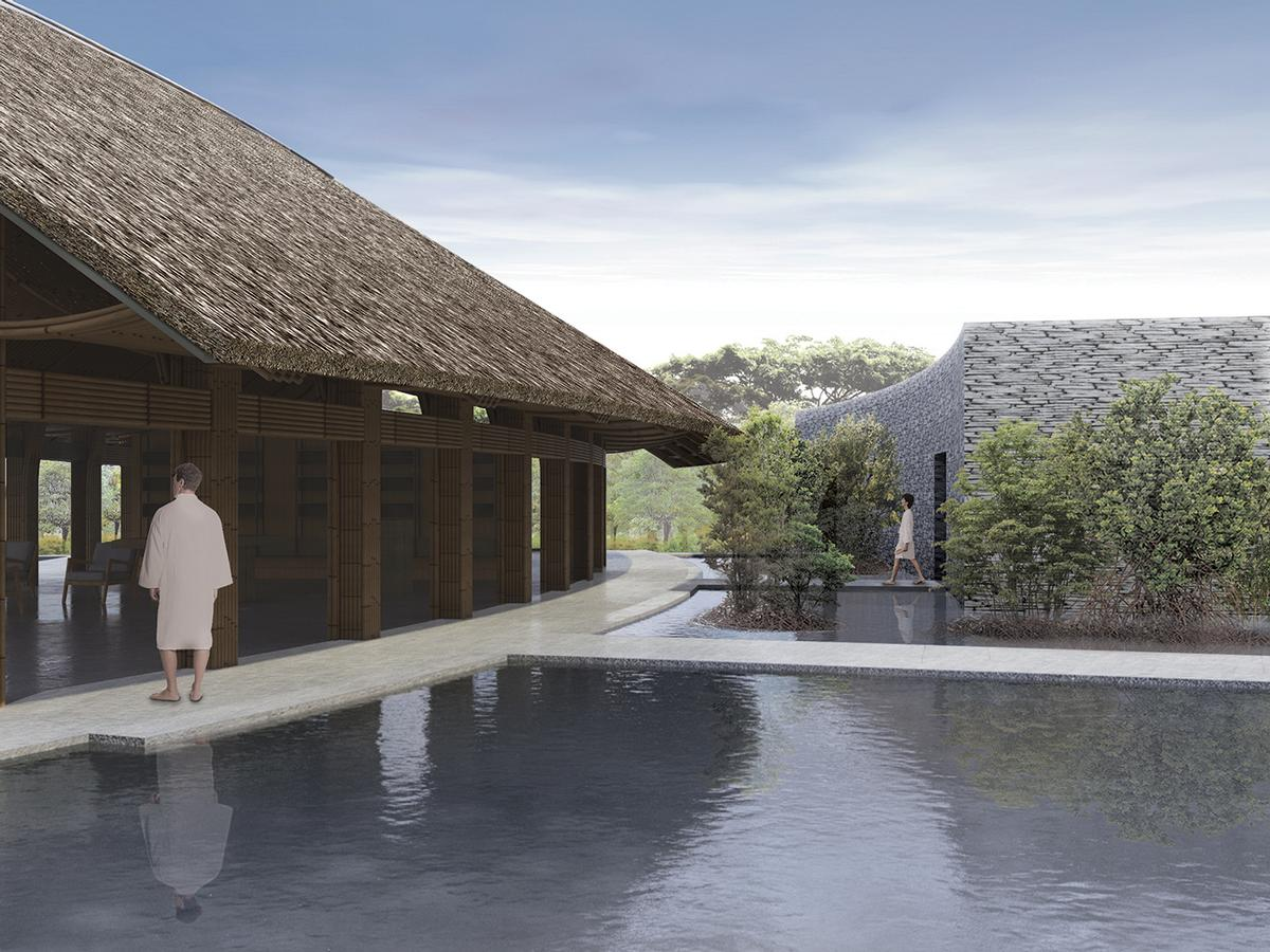 The spa will be connected to a five star hotel / Vo Trong Nghia Architects