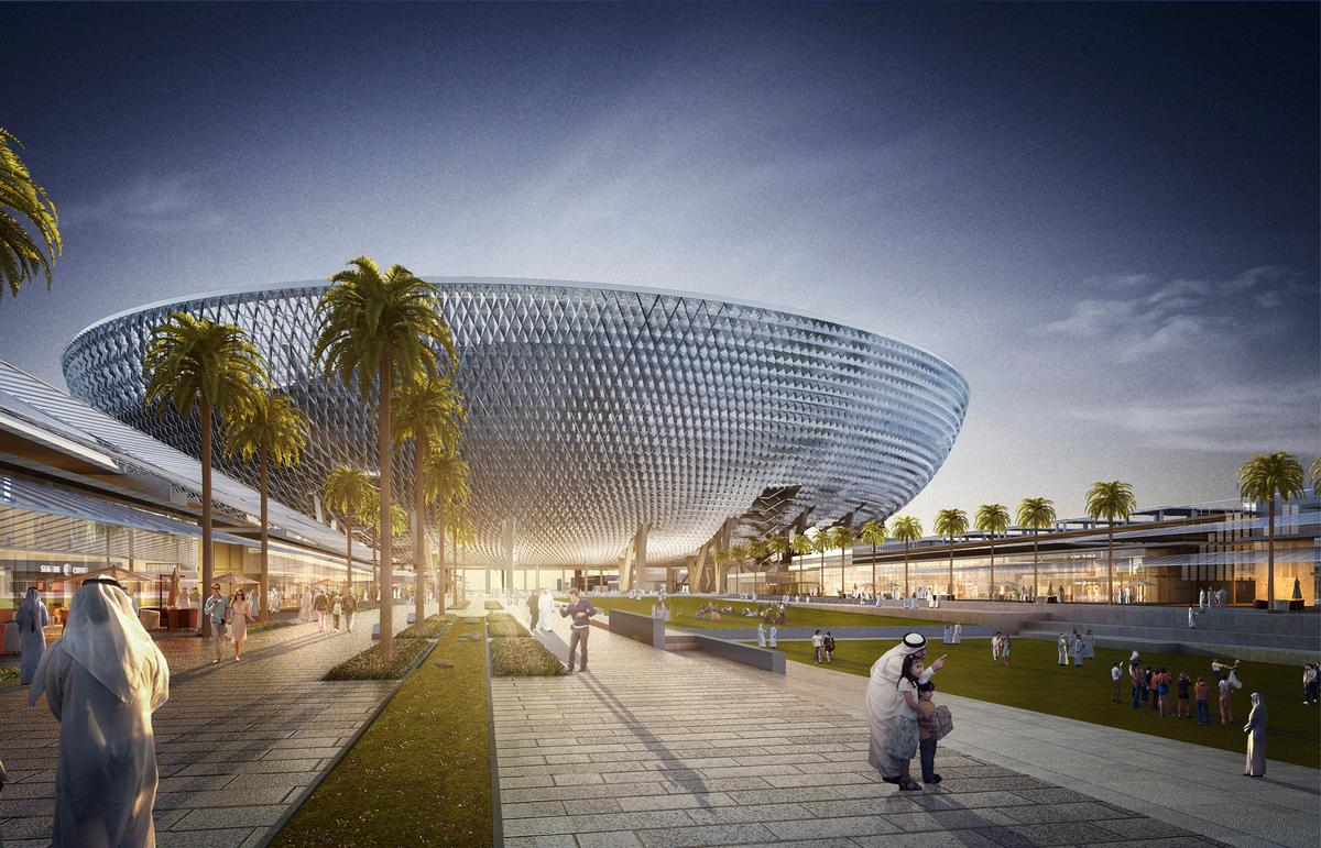 perkins will design futuristic bowl shaped stadium for dubai