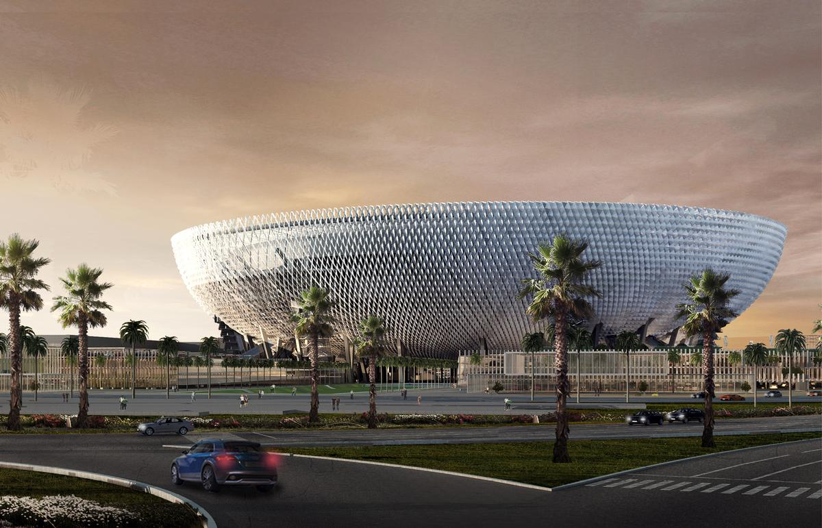 The stadium is shaped like a giant bowl / Perkins + Will