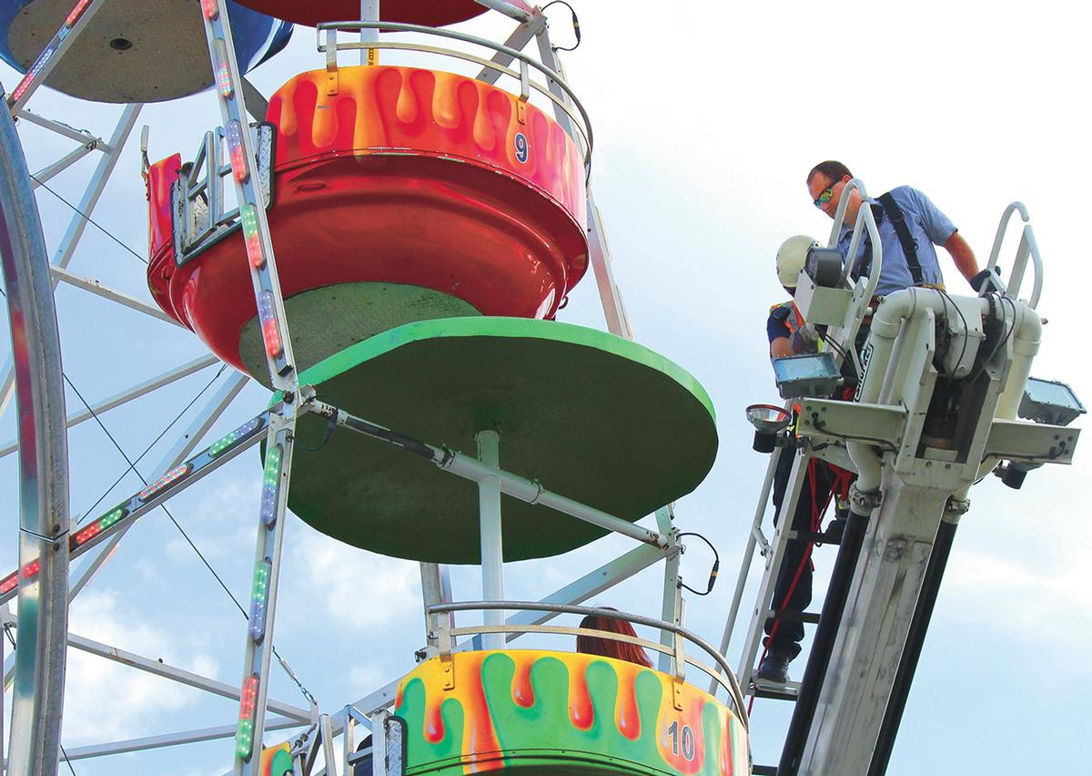 Three girls fell from a Ferris wheel when the gondola they were riding overturned / O.J. Early/AP/Press Association Images