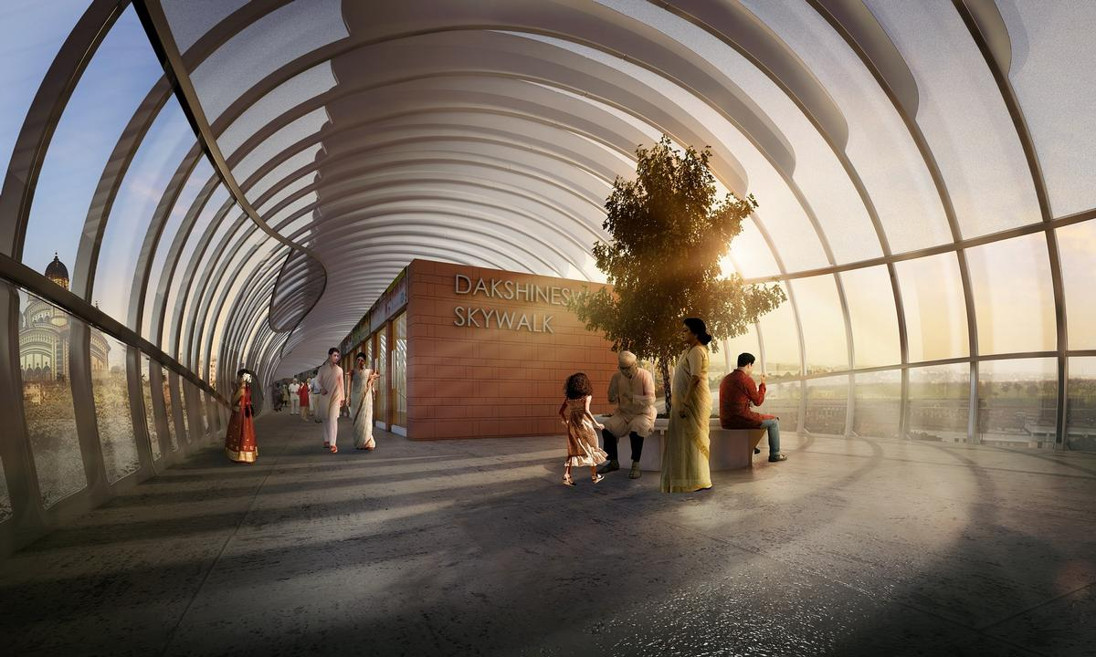 Areas to relax, socialise and enjoy a view of the city will feature on the walkway / Design Forum International