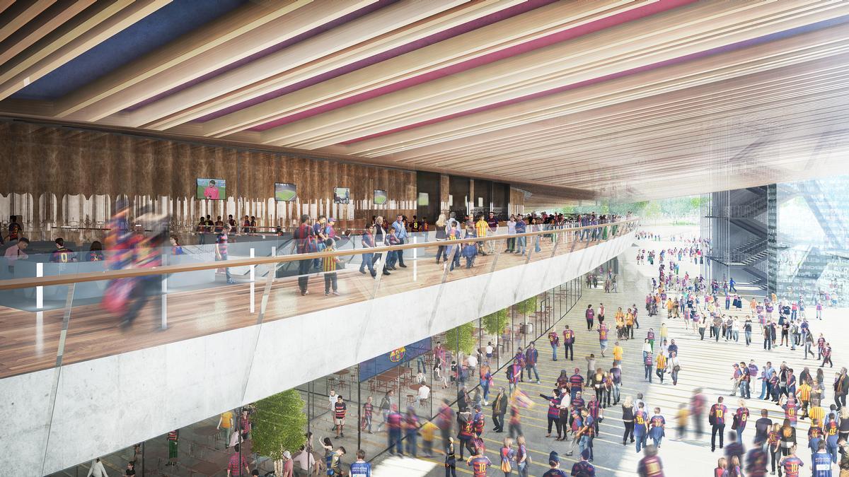 Three skyrings will surround the perimeter of the stadium / FC Barcelona