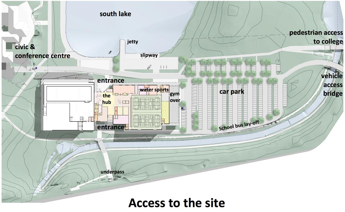 Plan for the leisure centre, which is due to open in 2019