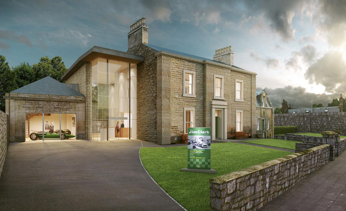 The project would see the existing Jim Clark Room in Duns expanded and redeveloped