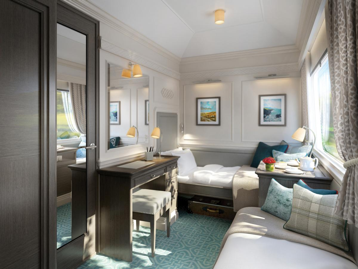 The train will carry up to 40 passengers in 20 en-suite cabins / Belmond