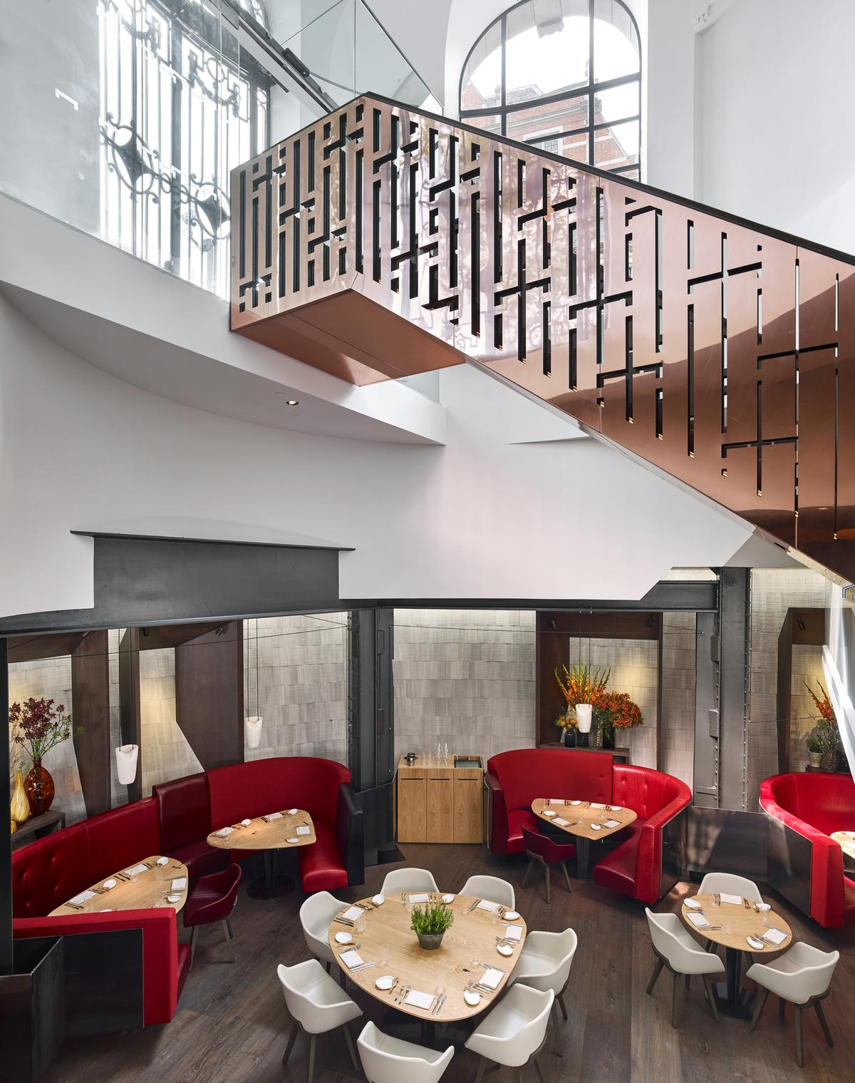 A new mezzanine level was created for the restaurant / Eneko at One Aldwych