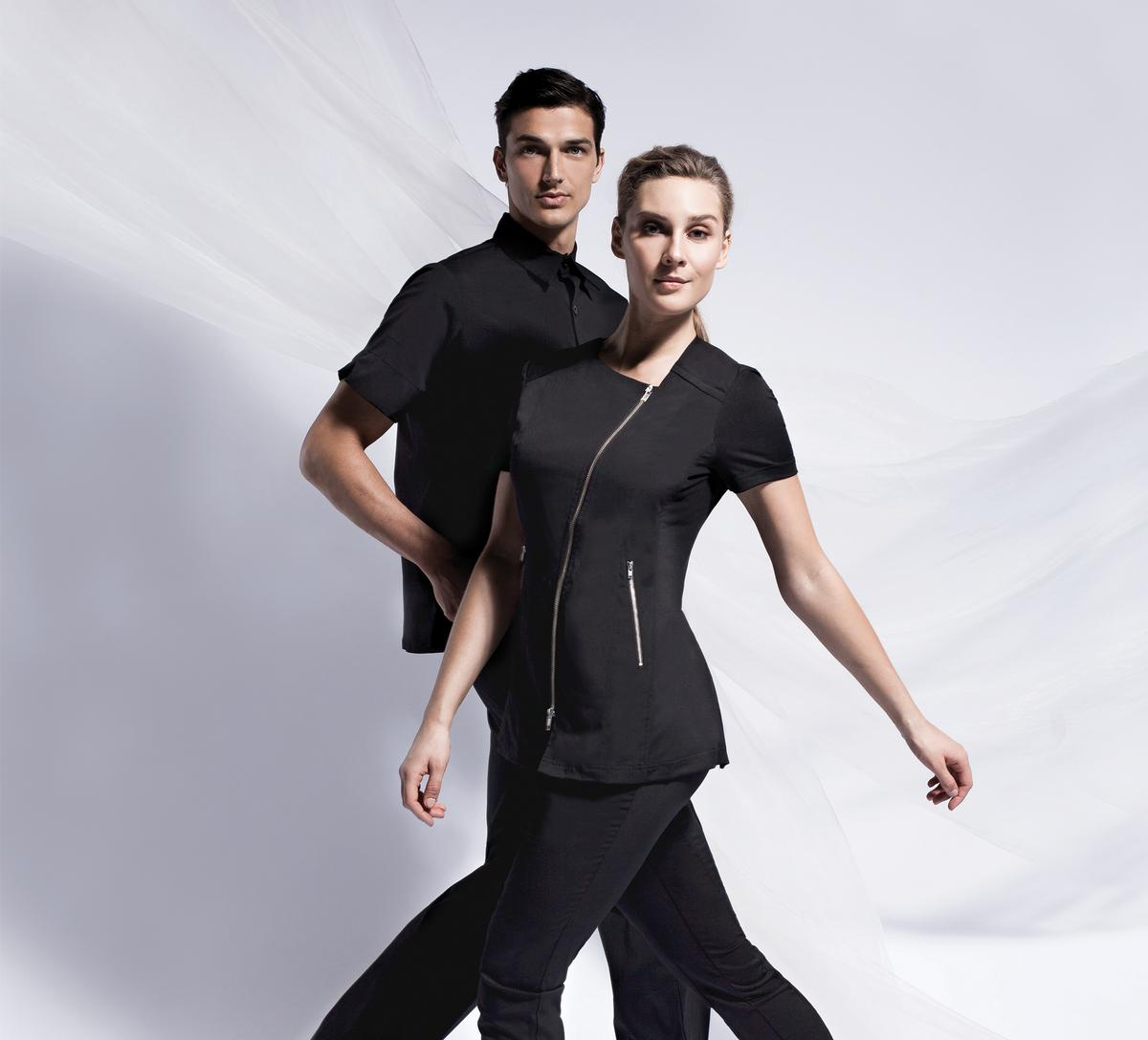 Noel asmar s new spa uniforms will include body mapping for Spa uniform canada
