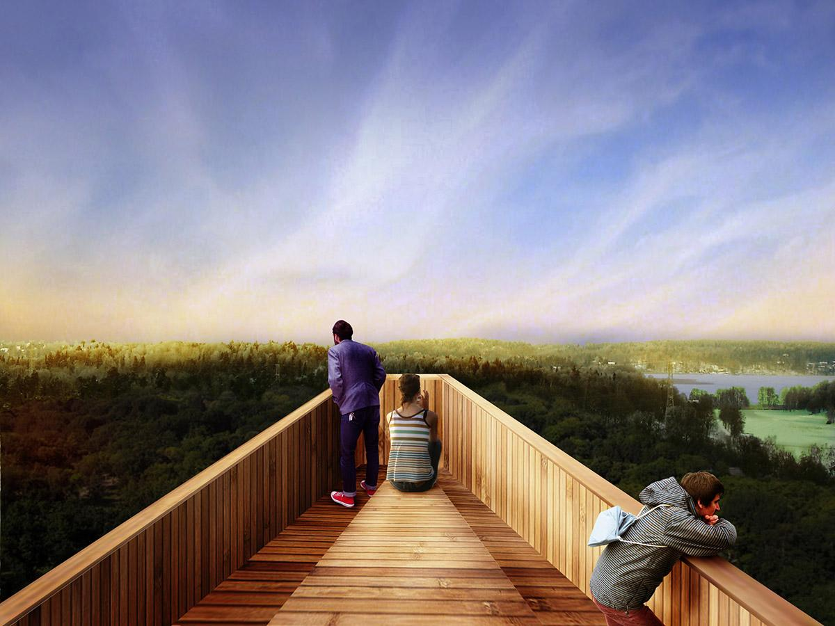 Visitors would be able to enjoy picnics from the top of the tower / Anders Berensson Architects