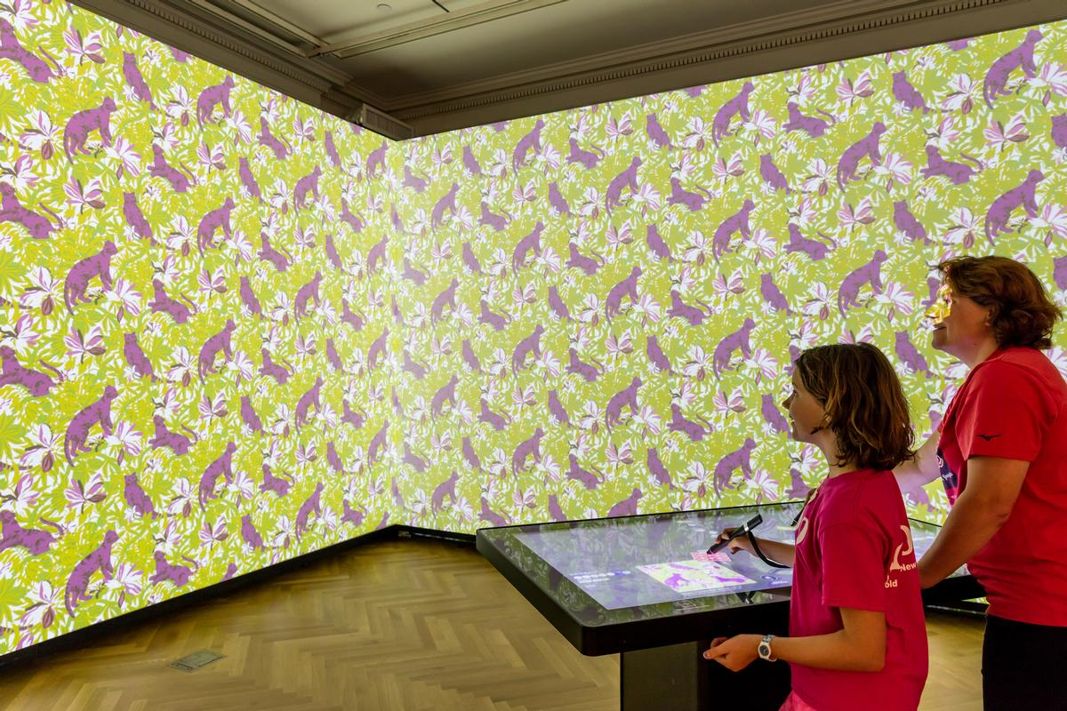 The Immersion Room from the US uses digitised wallpapers to illustrate how we create ideas of utopia within our own personal spaces / Cooper Hewitt