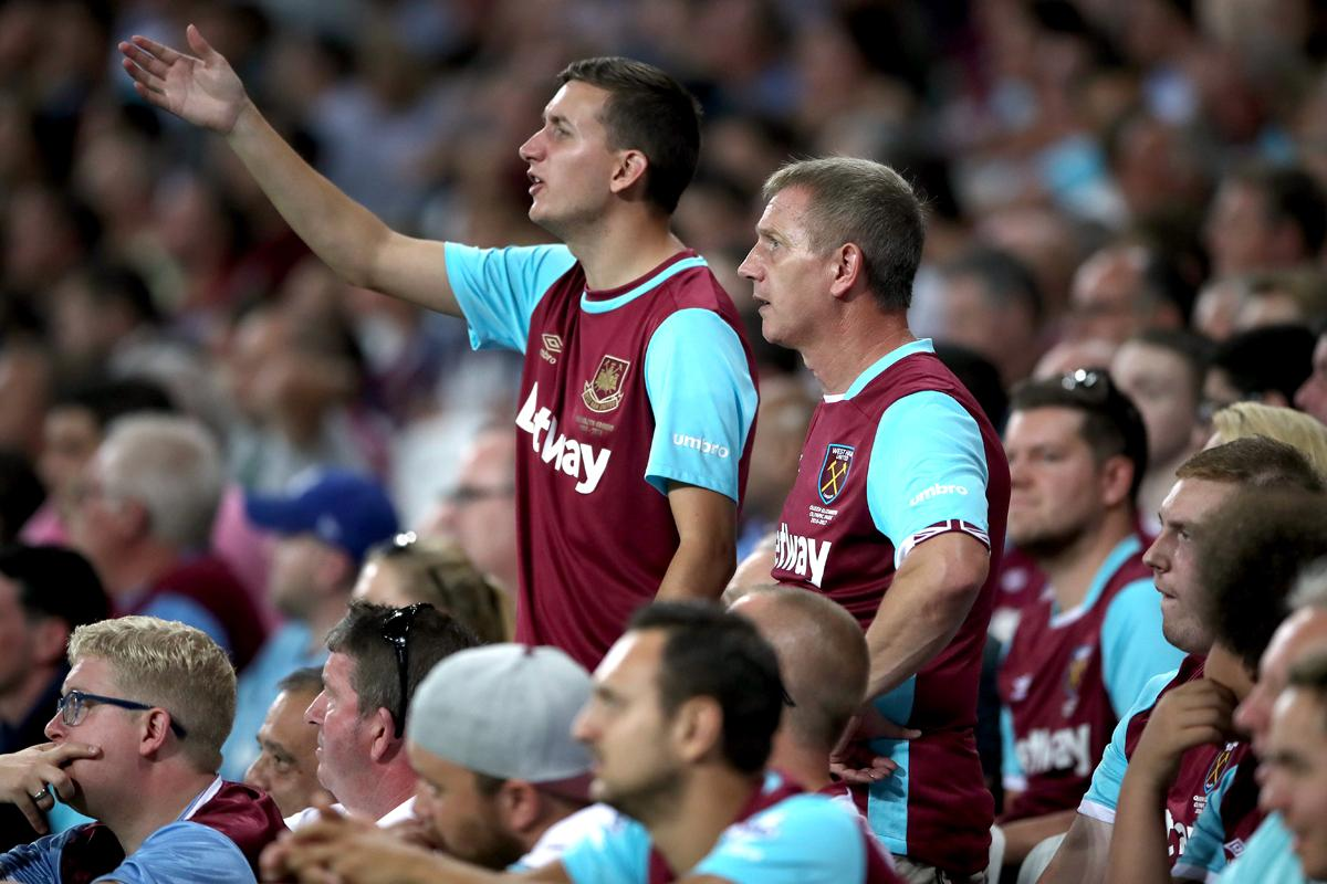 West Ham co-chair David Gold will talk to the Premier League and FA about the possibility of implementing safe standing in the Olympic Stadium / Nick Potts/PA Wire/Press Association Images