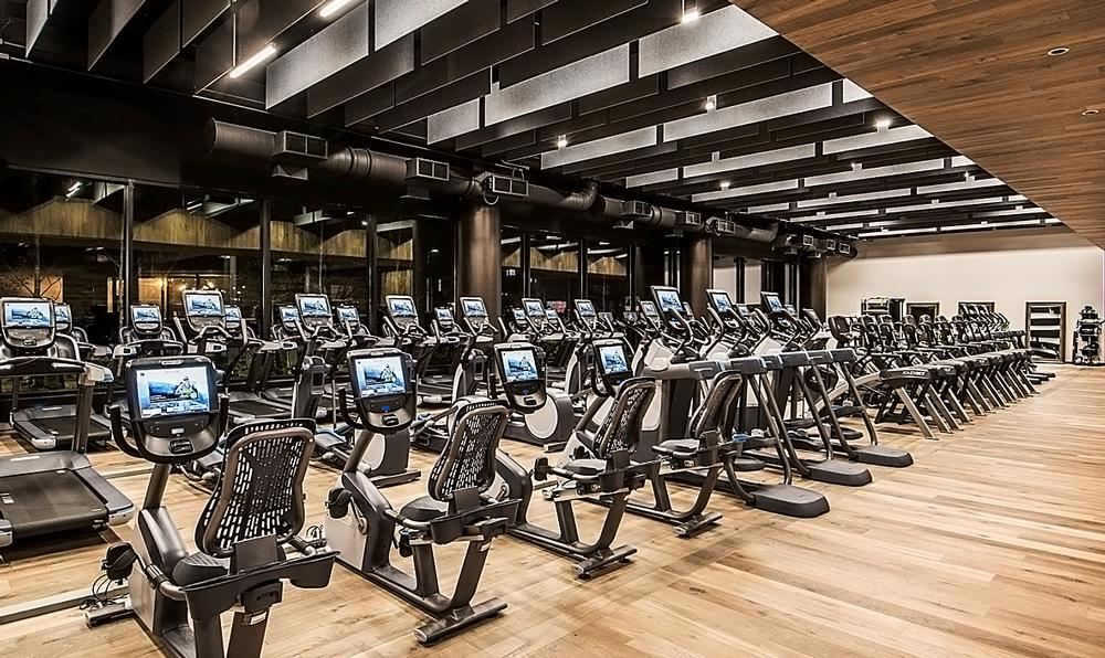 Facilities include a spin studio