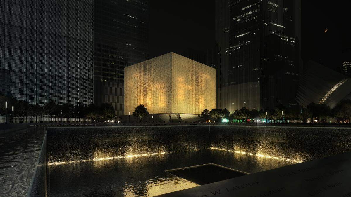 Designed by Rex Architecture, the arts venue will be built north of the 9/11 memorial / Render by Luxigon