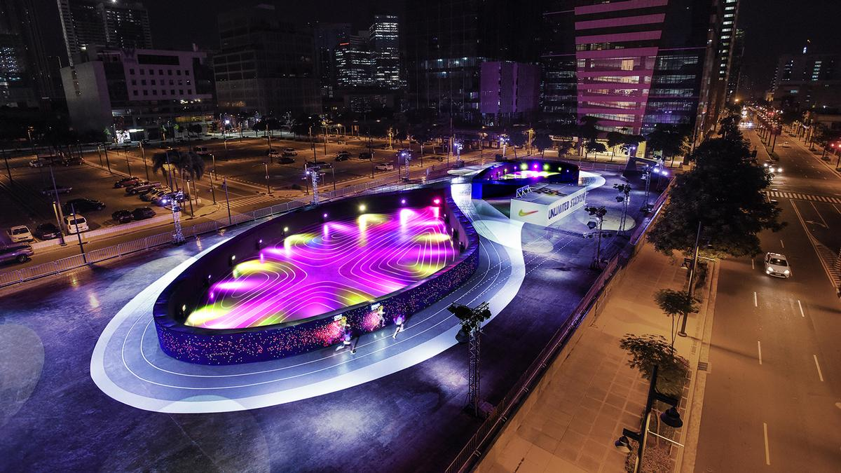 The running track took up a whole city block in Manila / BBH Singapore