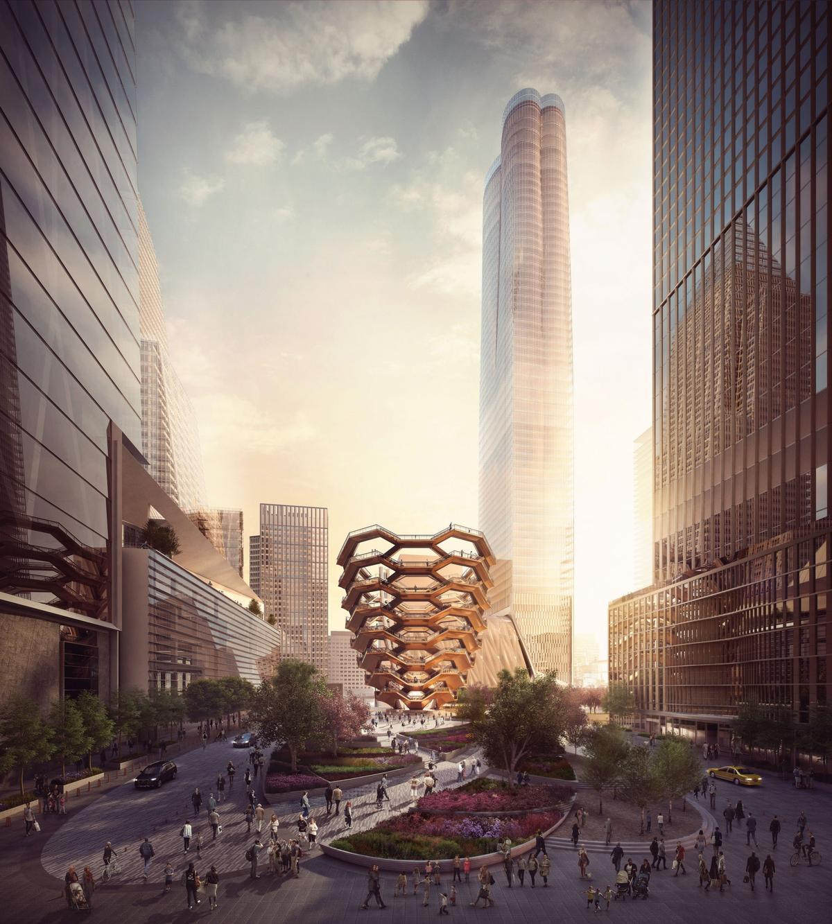 Vessel will be located in Hudson Yards' Public Square and Gardens, designed by Nelson Byrd Woltz Landscape Architects / Forbes Massie