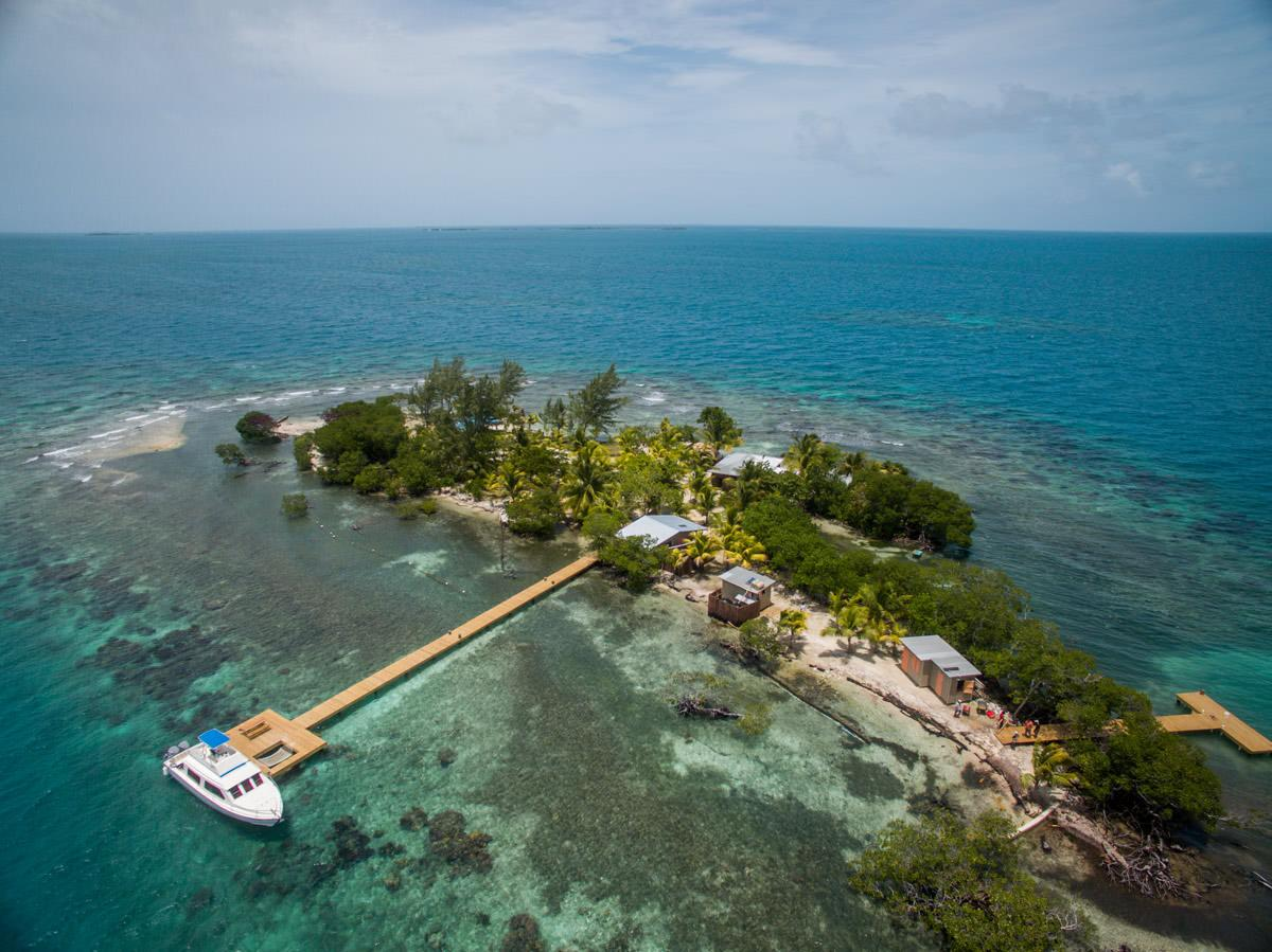 The remote two-acre Coral Caye island is sheltered behind the Belize Barrier Reef / The Family Coppola