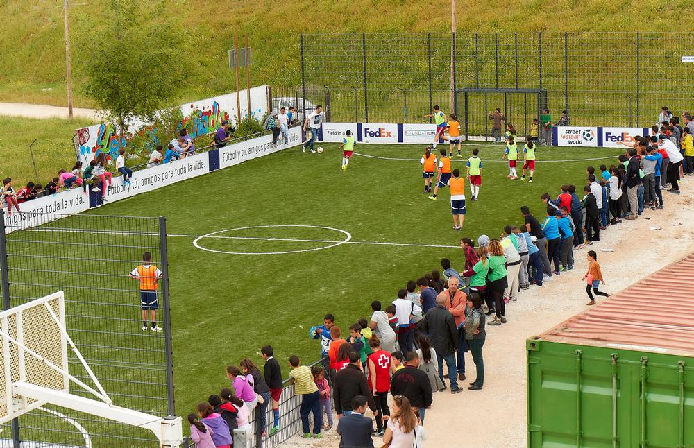 The pitch in Cañada Real, Spain, is now used by over 200 participants