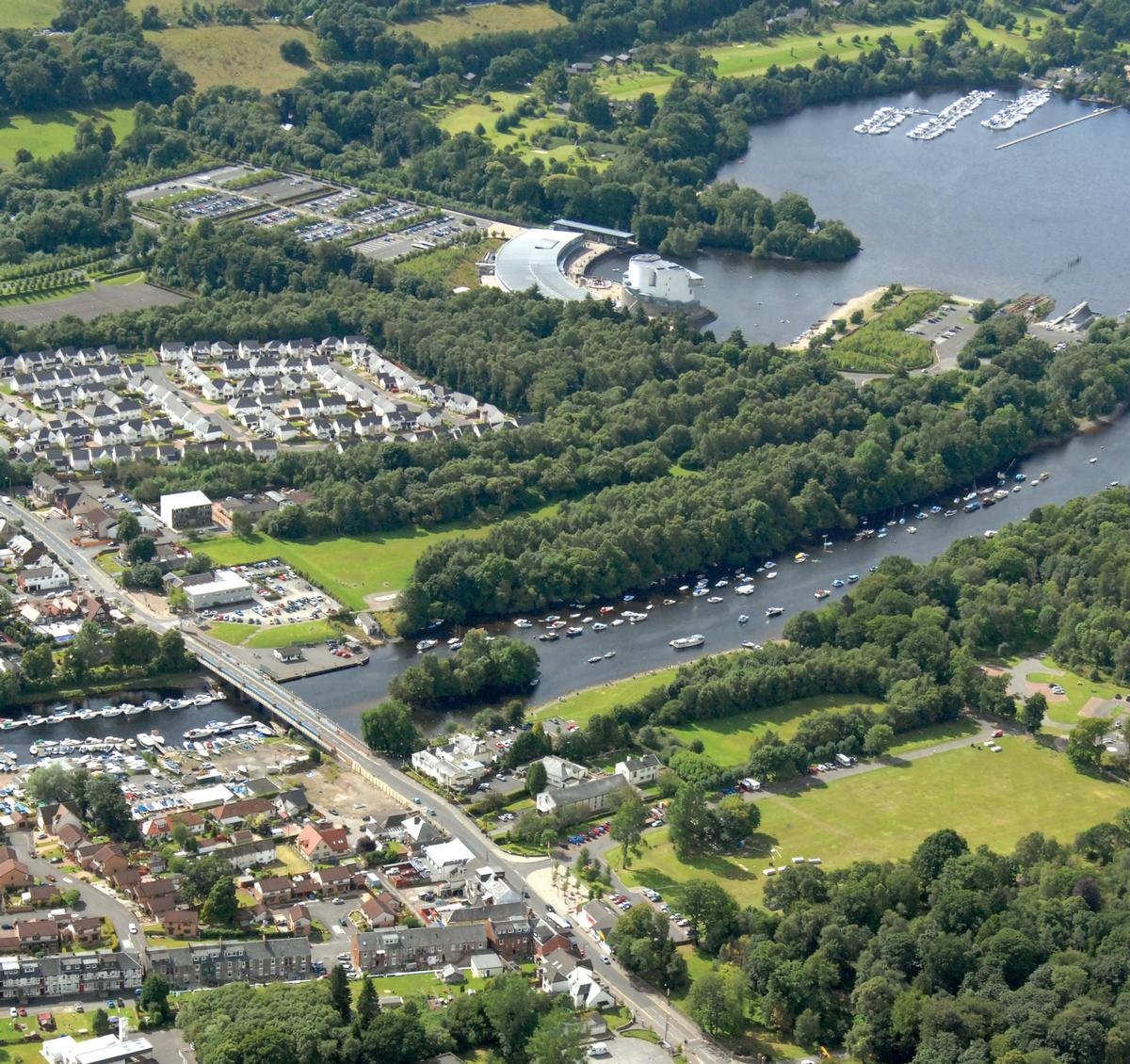 The resort would be built in the West Riverside area of Loch Lomond / Scottish Enterprise