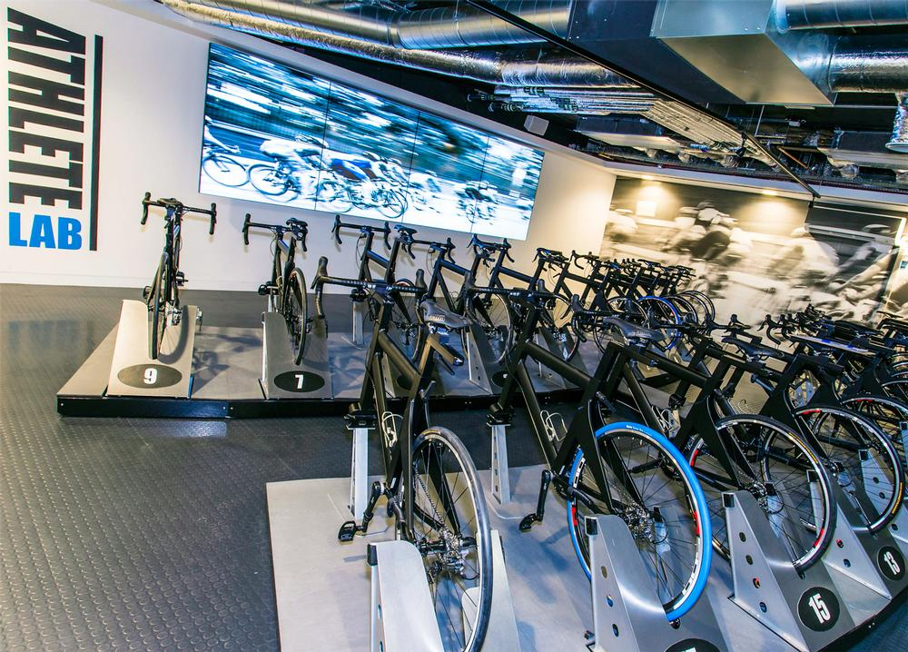 Athlete Lab London offers Adjustabikes, so members can train as they would on the road.