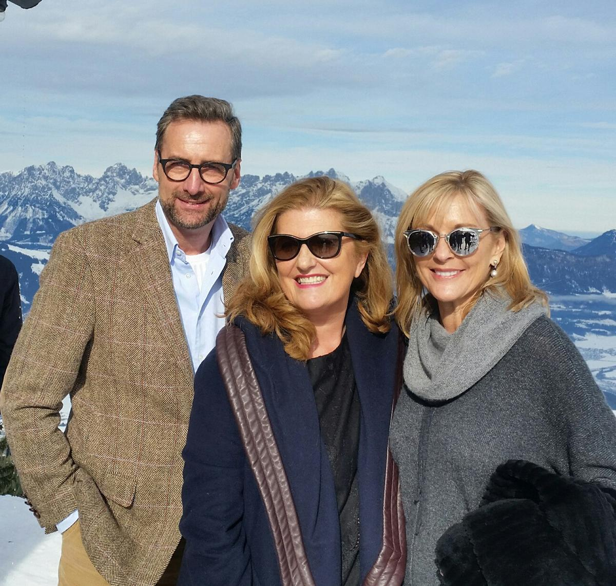 GWS co-chairs Dr. Franz Linser (left) and Sue Harmsworth (middle), with GWS CEO Susie Ellis (right) in Austria