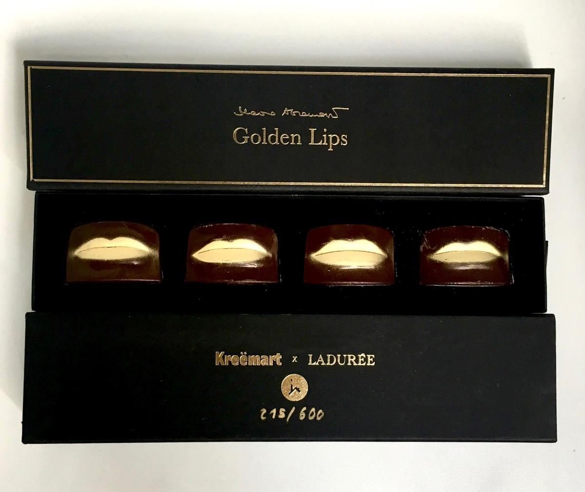 Abramovic crafted some dark chocolate moulded in the shape of her lips / Kreëmart
