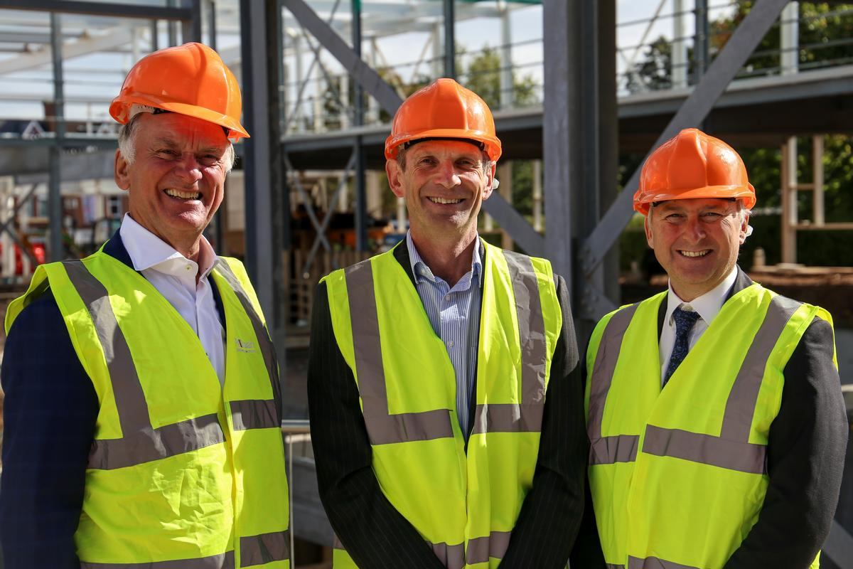 (L-R) Gerard Pellikaan, Pellikaan Construction; John Bates, Places for People Leisure; and deputy leader for Birmingham City Council, Cllr Ian Ward / Places for People Leisure