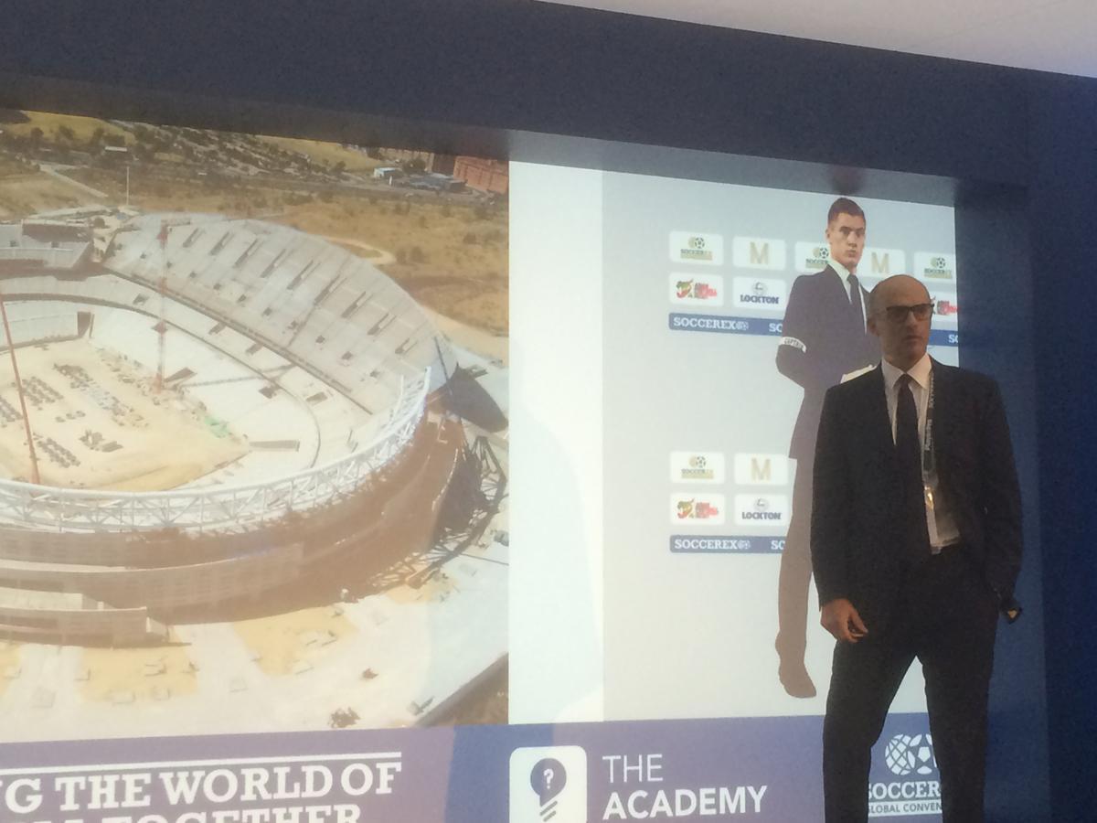 Martinez reveals images of the stadium's current state for Soccerex delegates