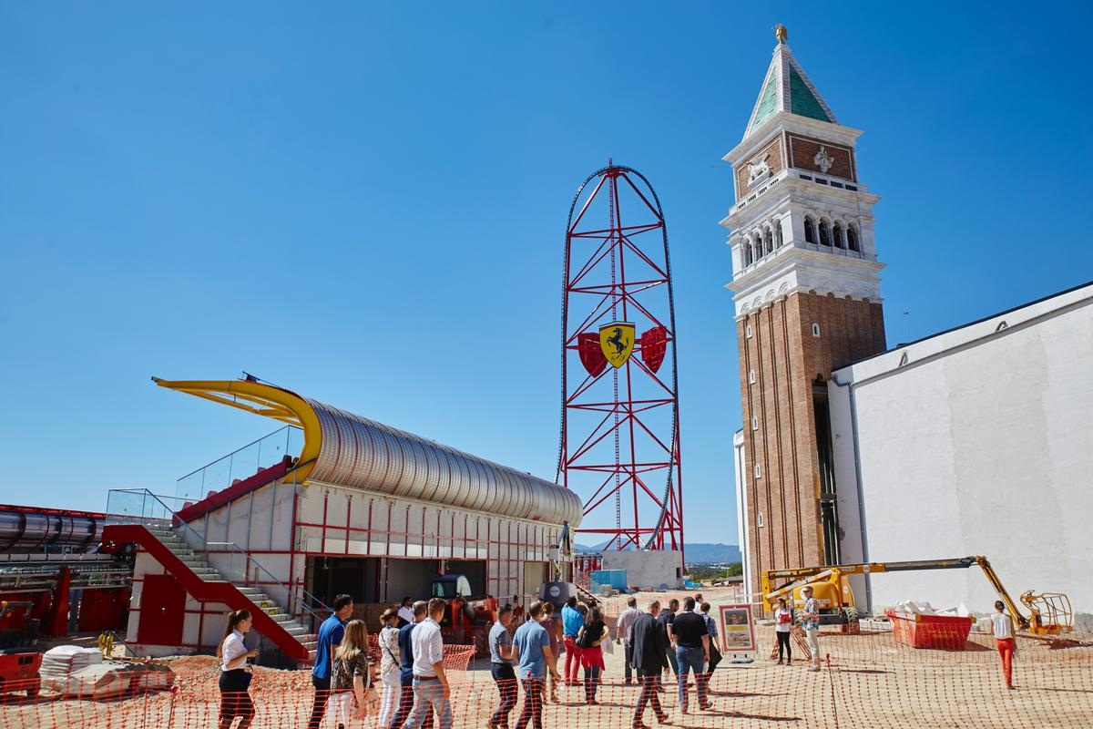 The PortaVentura addition has already announced an opening date of 7 April 2017, with the 60,000sq m (646,000sq ft) Ferrari Land will be centred around its vertical accelerator rollercoaster / PortAventura
