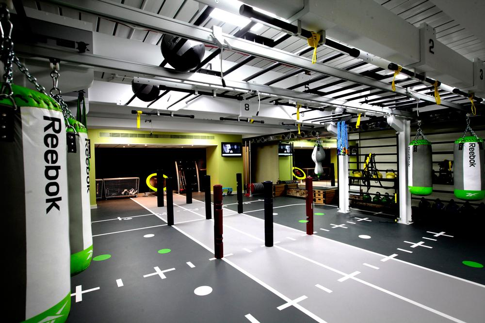 Functional training zones at Nuffield Health are used extensively by PTs and physiotherapists